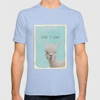 Lama Mens Fitted Tee Tri-Blue SMALL