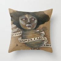 REGULAR BADGER Throw Pillow