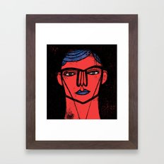 Red Blue Black Framed Art Print