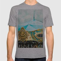 Love A Fair . . .  blue carousel Mens Fitted Tee Athletic Grey SMALL