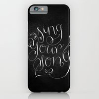 iPhone & iPod Case featuring Sing Your Song // White on Black by Magpie Paper Works