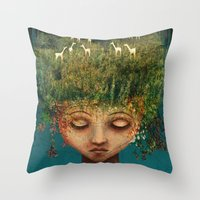 Quietly Wild Throw Pillow