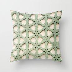 Jade Lattice Throw Pillow