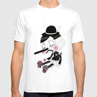 Unplug Mens Fitted Tee White SMALL