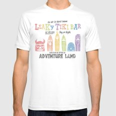 Adventureland White Mens Fitted Tee SMALL