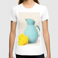 The Yellow Mums Womens Fitted Tee White SMALL