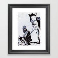 Rooster Man Framed Art Print