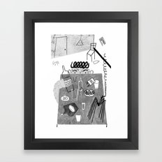 Man and the Spider Framed Art Print