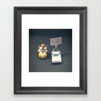 Delorean Rides Framed Art Print