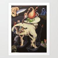 The Garden Of Muppetly D… Art Print