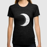 Slideshow Womens Fitted Tee Tri-Black SMALL
