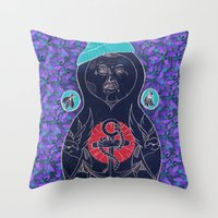 Babushka Throw Pillow