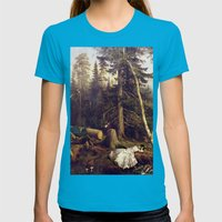 Matter Of Course Womens Fitted Tee Teal SMALL