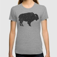 Mystic Buffalo  Womens Fitted Tee Tri-Grey SMALL