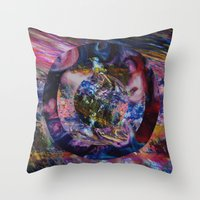Space Marble Version 2 Throw Pillow