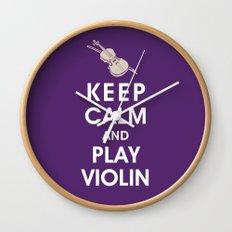 Keep Calm and Play Violin Wall Clock