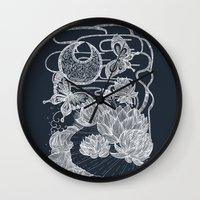 Lotus And Butterfly Wall Clock