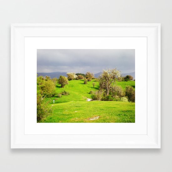prespes.lakes.II.greece Framed Art Print