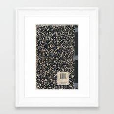 Notebook Framed Art Print