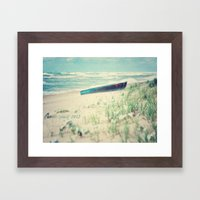 Boat at the sea Framed Art Print