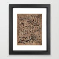 Five Exclamation Marks, … Framed Art Print