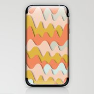 iPhone & iPod Skin featuring Colorful Waves by Akwaflorell