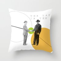 The Language Of The Deal Throw Pillow