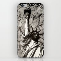 Lady Liberty Got nothing on me. iPhone & iPod Skin