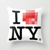 Censored Love Throw Pillow