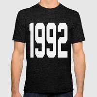 1992 Mens Fitted Tee Tri-Black SMALL