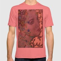 Overgrown Mens Fitted Tee Pomegranate SMALL