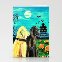 Dogs In Pumpkin Patch Stationery Cards