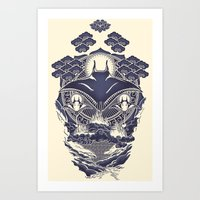 Mantra Ray Art Print