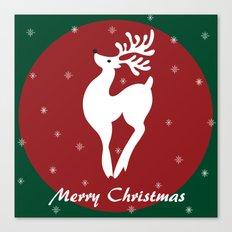 Merry Christmas Reindeer Canvas Print