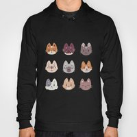 Cute Kitty Cat Faces Pattern Hoody