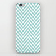 Teal Blue Chevron iPhone & iPod Skin