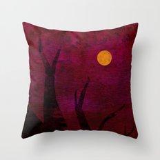 Red Sunset Throw Pillow
