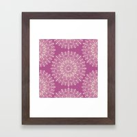 Vintage Mandala-Purply Framed Art Print