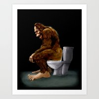 Bigfoot Breaks Into Some… Art Print