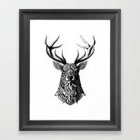 Ornate Buck Framed Art Print