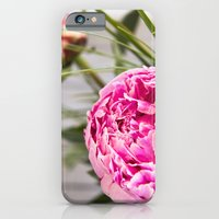 iPhone Cases featuring peonies II by petra zehner