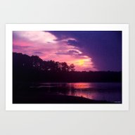 Art Print featuring Summer Sunset by Roger Wedegis