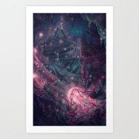 Jellyfish Hive Art Print