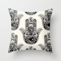 Hamsa Hand Pug Throw Pillow