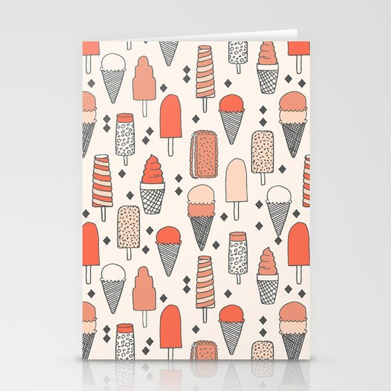 Ice Cream Season Stationery Card