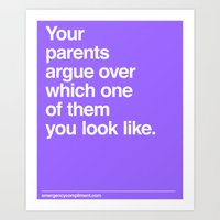 Arguing Parents Art Print