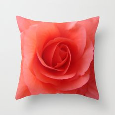 Rose Delicate Throw Pillow