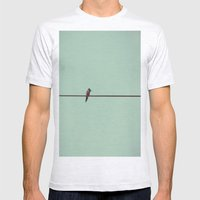 On the Wire Mens Fitted Tee Ash Grey SMALL