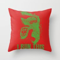 Link Boss Throw Pillow