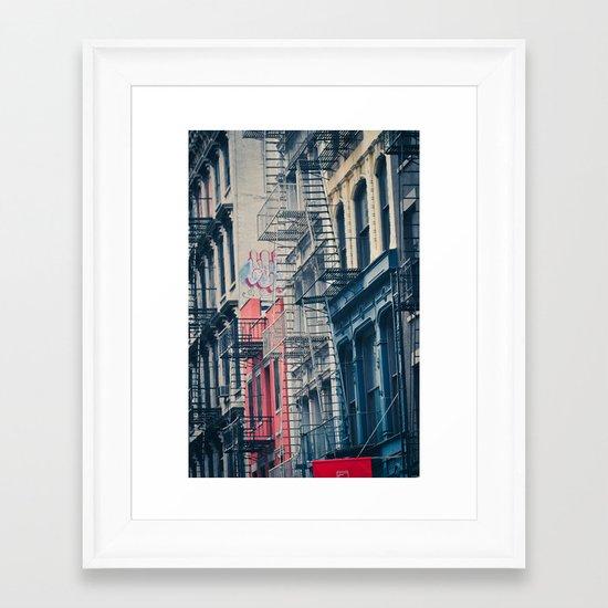 Density - New York City Architecture Framed Art Print